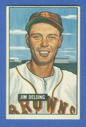 1951 Bowman #279 Jim Delsing SCARCE HIGH# (St. Louis Browns) Baseball cards value