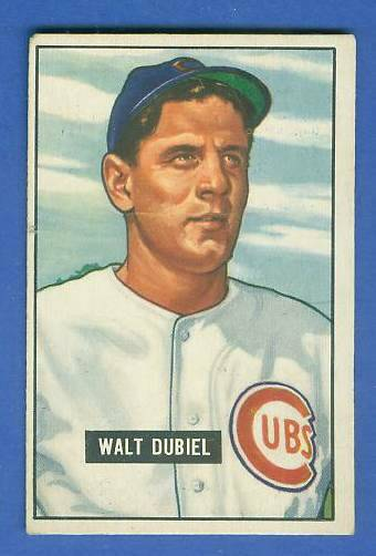 1951 Bowman #283 Walt Dubiel SCARCE HIGH# [#x] (Cubs) Baseball cards value