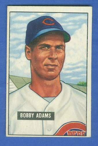 1951 Bowman #288 Bobby Adams SCARCE HIGH# (Reds) Baseball cards value