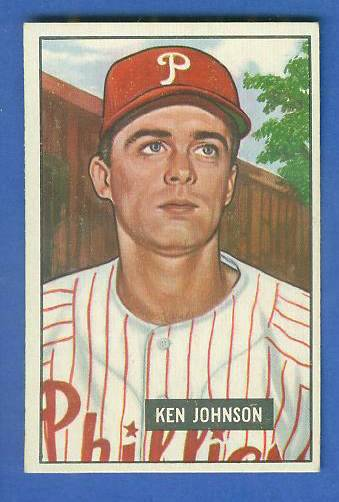 1951 Bowman #293 Ken Johnson SCARCE HIGH# (Phillies) Baseball cards value