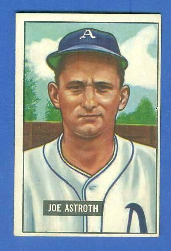 1951 Bowman #298 Joe Astroth SCARCE HIGH# (Philadelphia A's) Baseball cards value