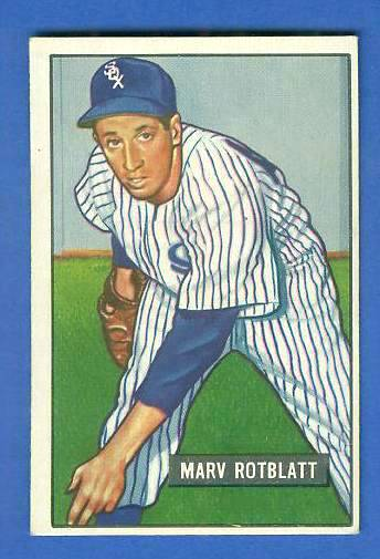 1951 Bowman #303 Marv Rotblatt SCARCE HIGH# (White Sox) Baseball cards value