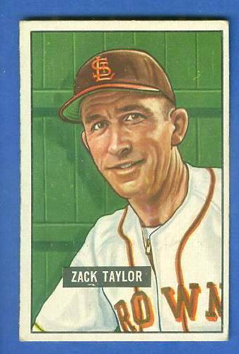 1951 Bowman #315 Zack Taylor SCARCE HIGH# (St. Louis Browns) Baseball cards value