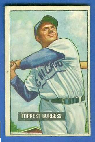 1951 Bowman #317 Smoky Burgess ROOKIE SCARCE HIGH# (Cubs) Baseball cards value