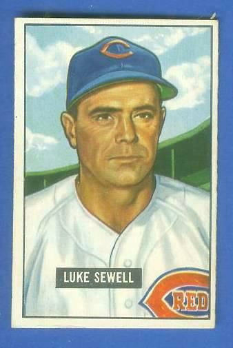 1951 Bowman #322 Luke Sewell SCARCE HIGH# (Reds) Baseball cards value