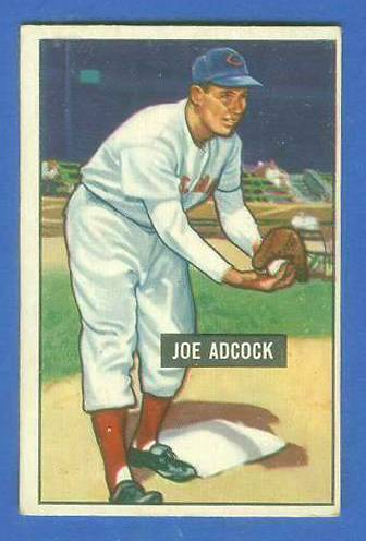 1951 Bowman #323 Joe Adcock ROOKIE SCARCE HIGH# (Reds) Baseball cards value