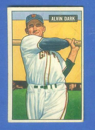 1951 Bowman #.14 Alvin Dark [#x] (New York Giants) Baseball cards value