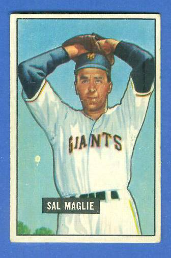 1951 Bowman #127 Sal Maglie ROOKIE [#x] (New York Giants) Baseball cards value