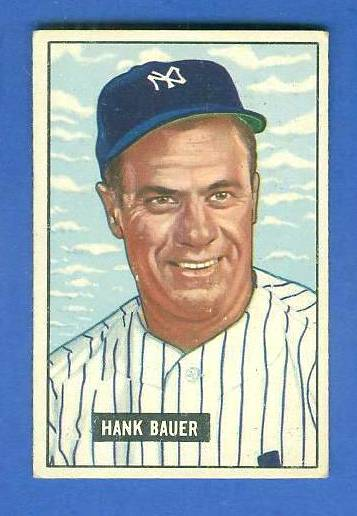 1951 Bowman #183 Hank Bauer [#x] (Yankees) Baseball cards value