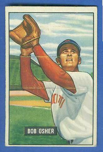 1951 Bowman #286 Bob Usher SCARCE HIGH# (Reds) Baseball cards value