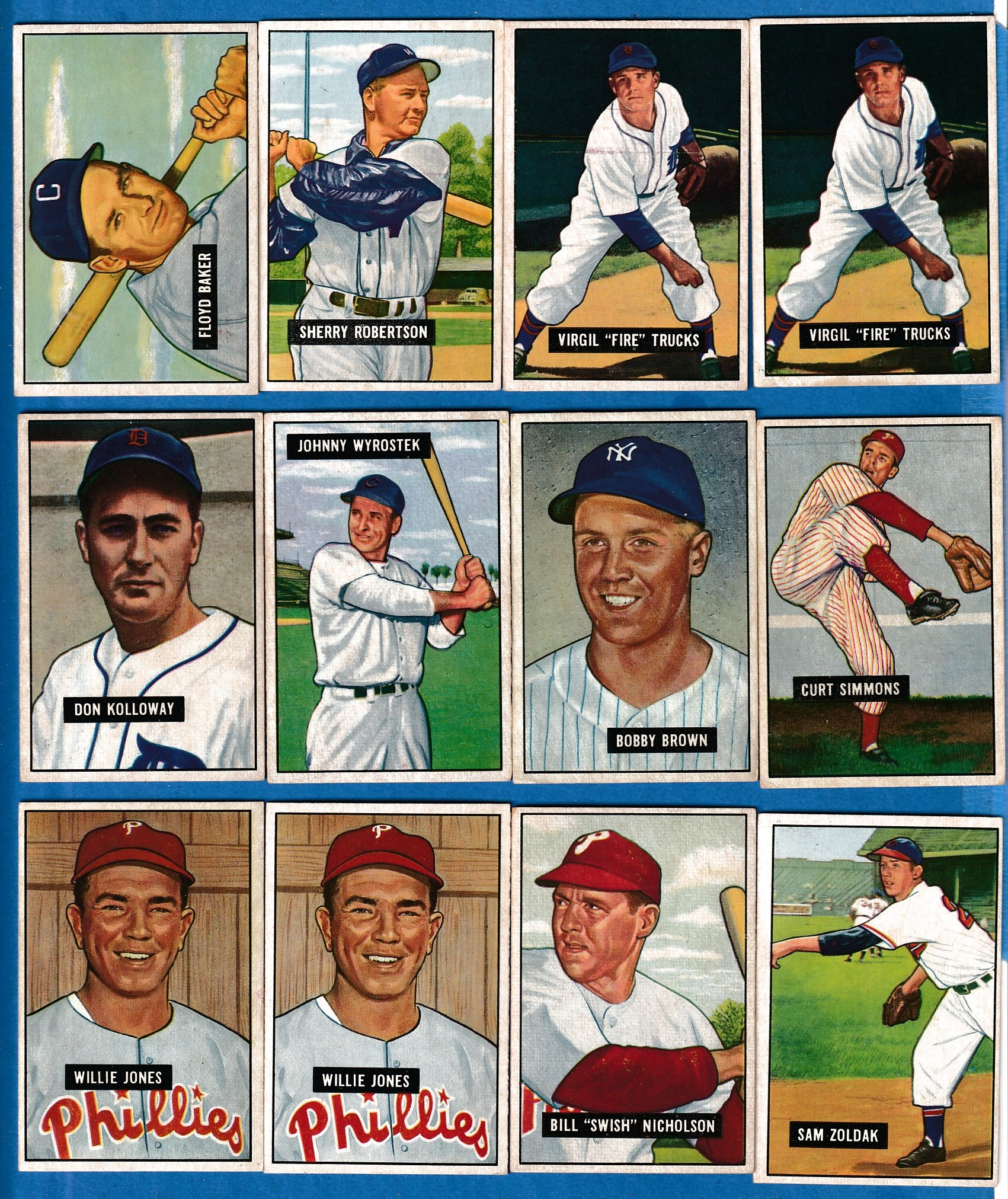 1951 Bowman #104 Virgil Trucks [#r] (Tigers) Baseball cards value