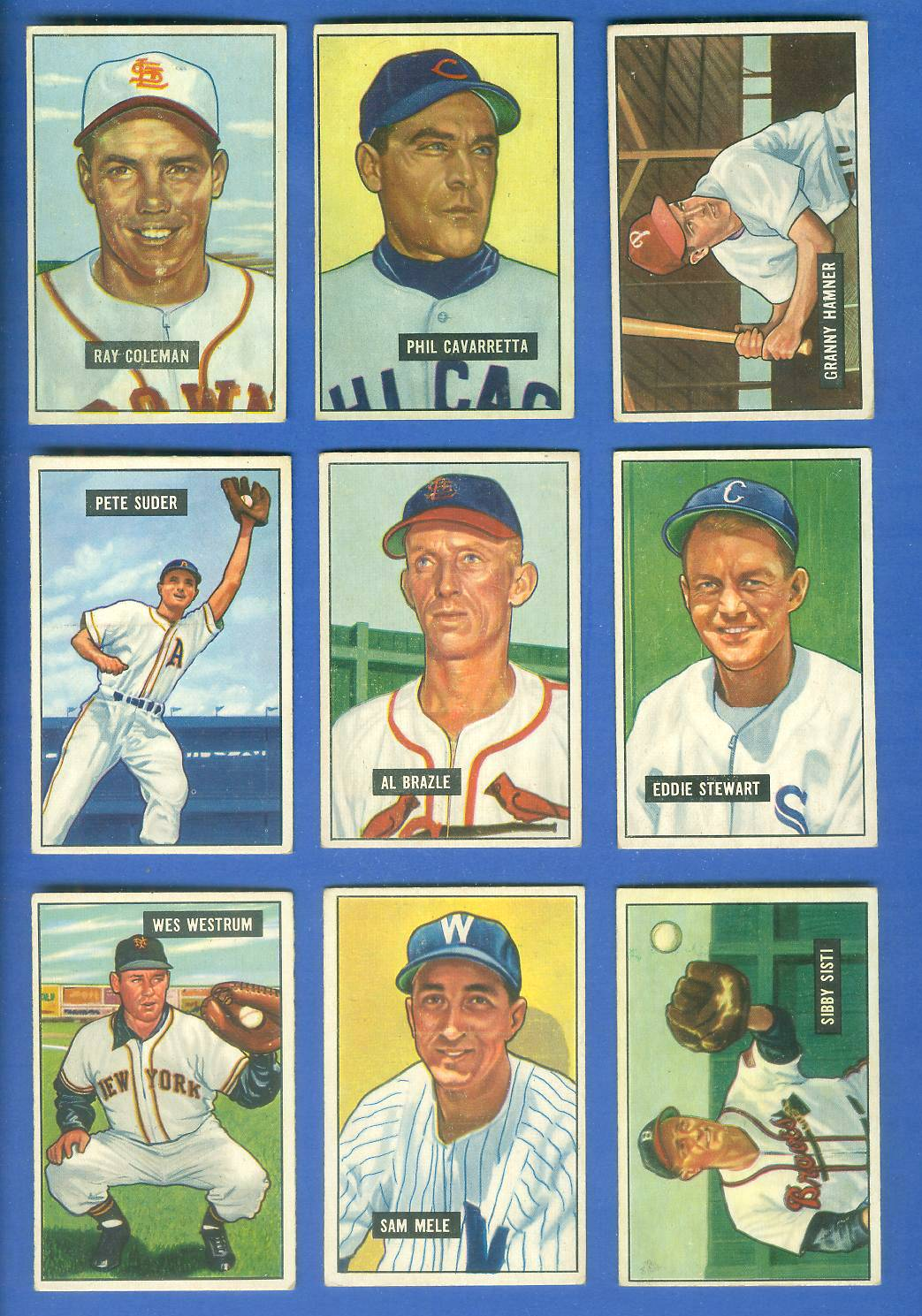 1951 Bowman #154 Pete Suder [#x] (Philadelphia A's) Baseball cards value