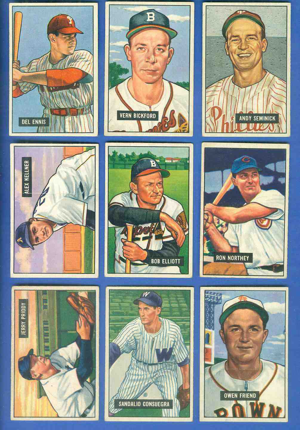 1951 Bowman #.57 Alex Kellner [#x] (Philadelphia A's) Baseball cards value