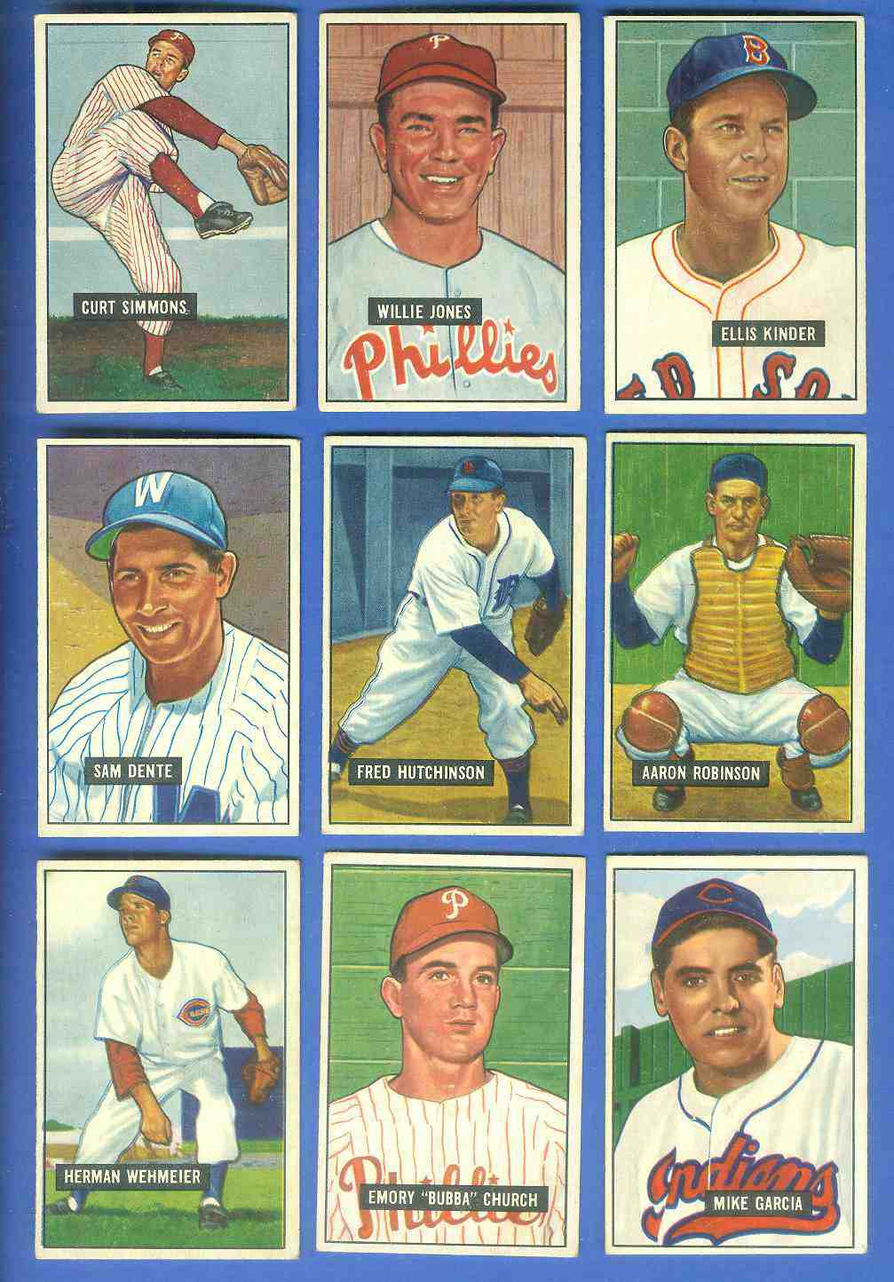 1951 Bowman #133 Sam Dente [#x] (Senators) Baseball cards value