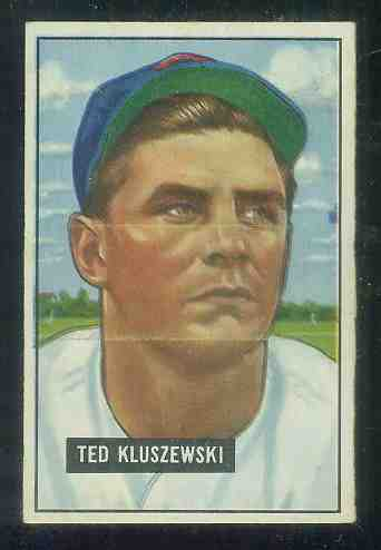 1951 Bowman #143 Ted Kluszewski (Reds) Baseball cards value