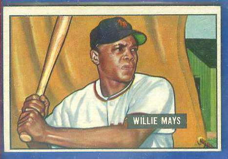 1951 Bowman #305 Willie Mays ROOKIE [#a] SCARCE HIGH# (New York Giants) Baseball cards value