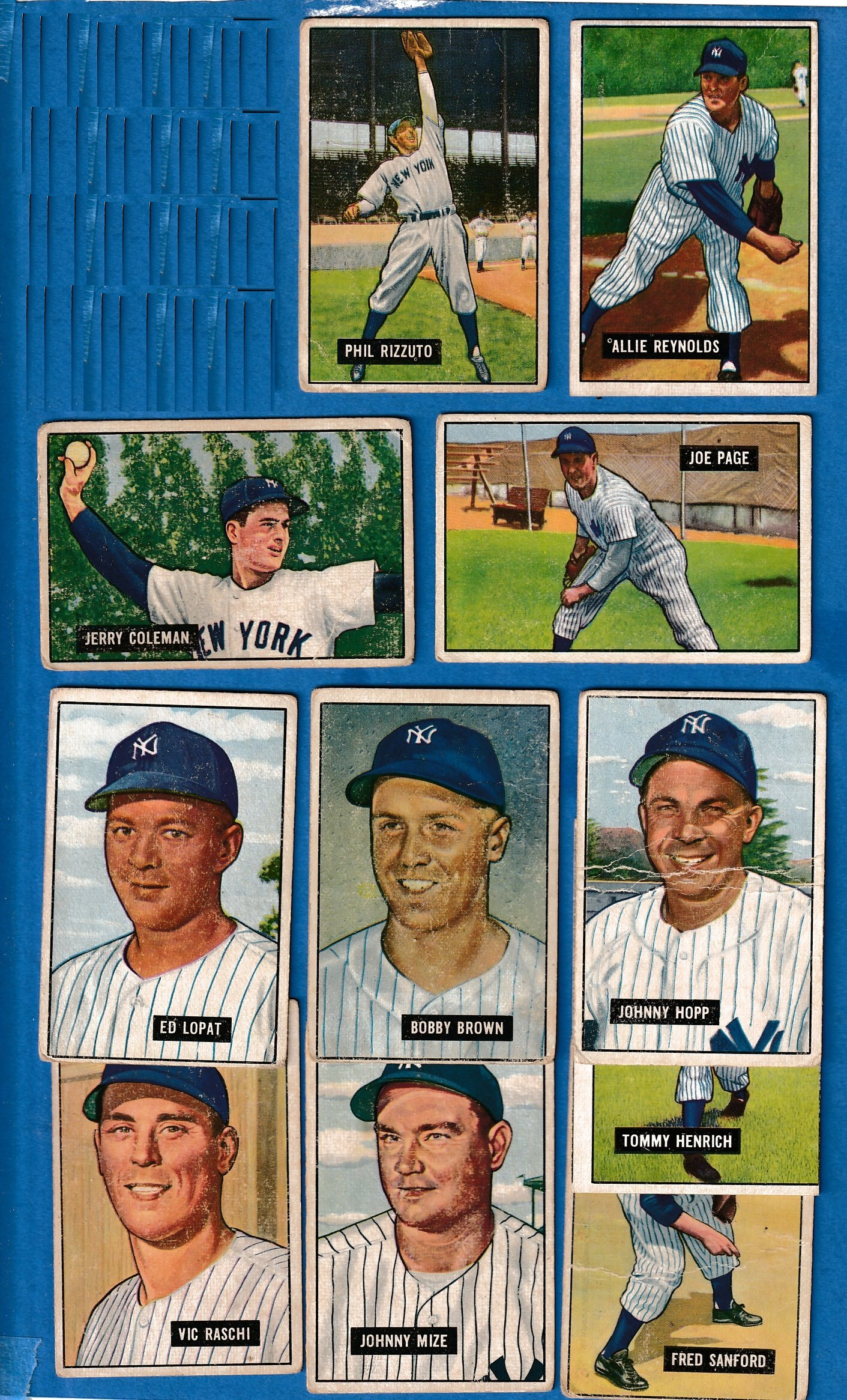 1951 Bowman  - YANKEES - Starter Team Set/Lot (11 with STARS!) Baseball cards value