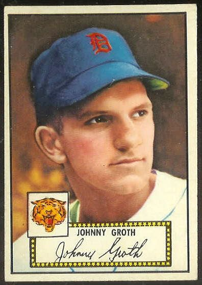 1952 Topps # 25 Johnny Groth RED-BACK (Tigers) Baseball cards value