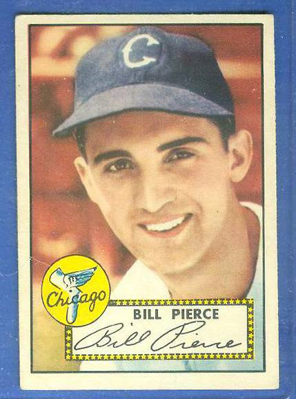 1952 Topps #.98 Bill Pierce (White Sox) Baseball cards value