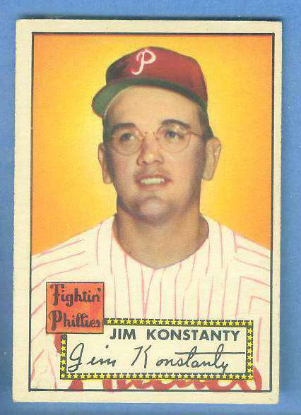 1952 Topps #108 Jim Konstanty (Phillies) Baseball cards value