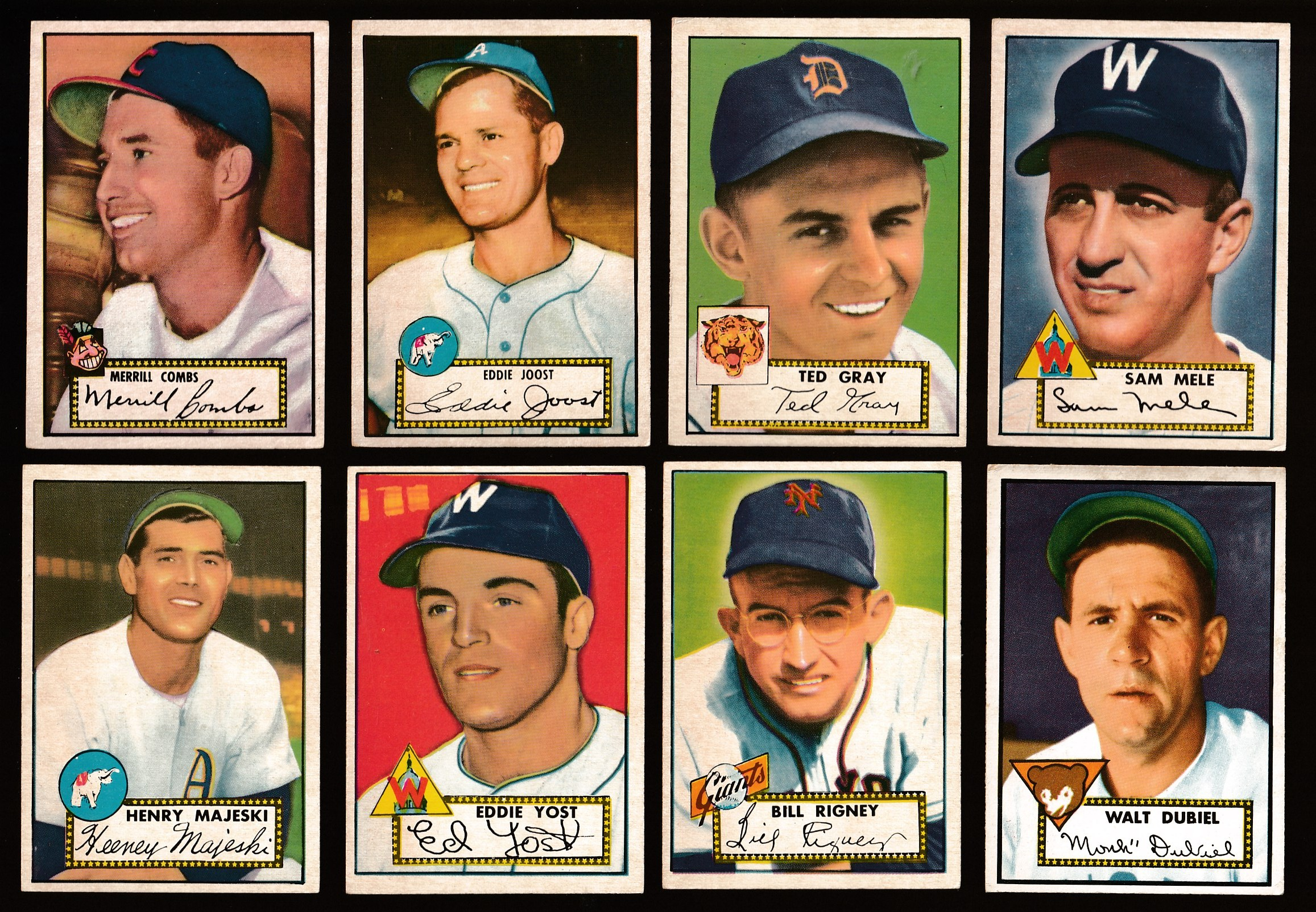 1952 Topps Baseball Cards Set Checklist Prices Values Information