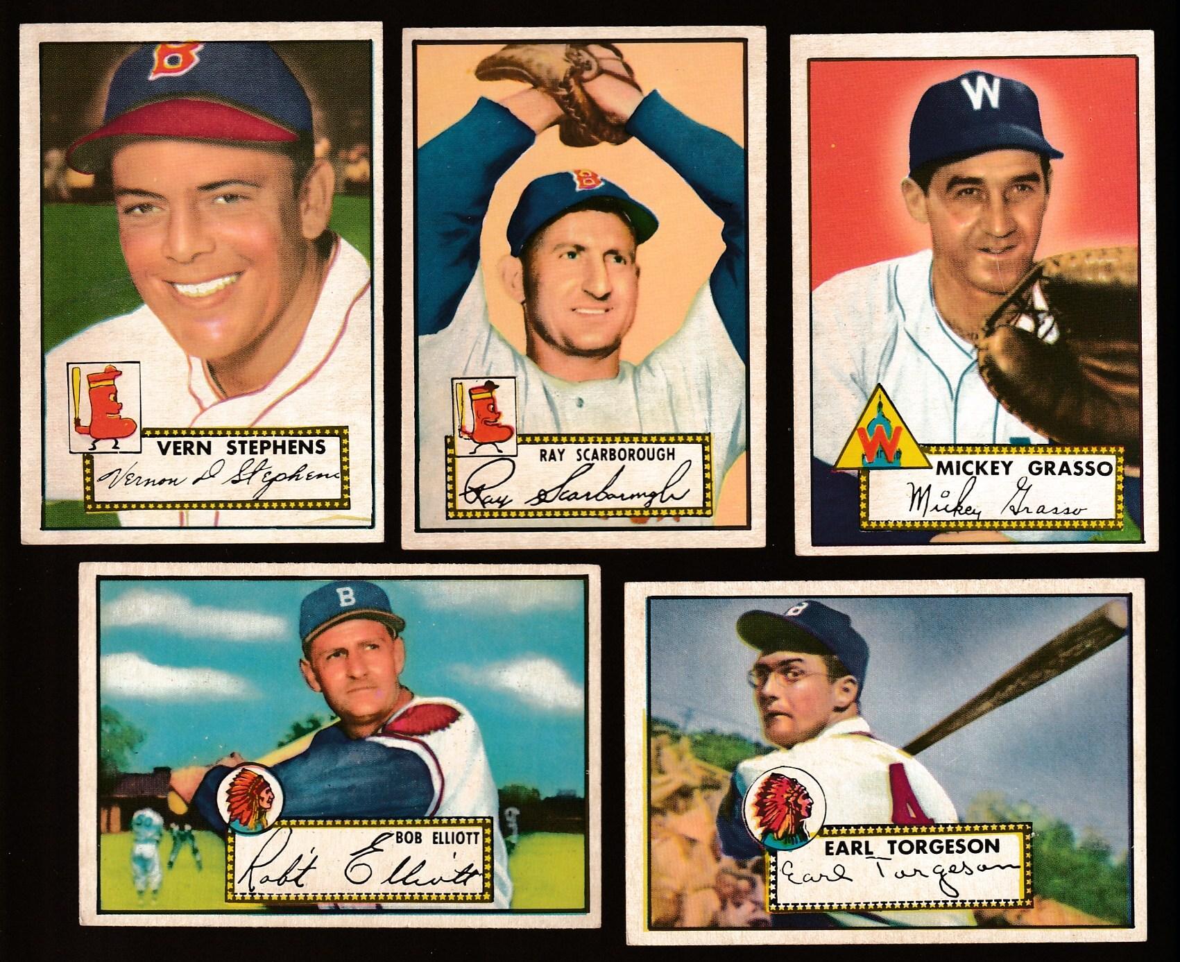 1952 Topps 14 Bob Elliott Boston Braves Baseball Card