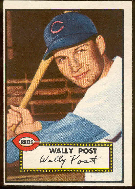 1952 Topps #151 Wally Post ROOKIE (Reds) Baseball cards value