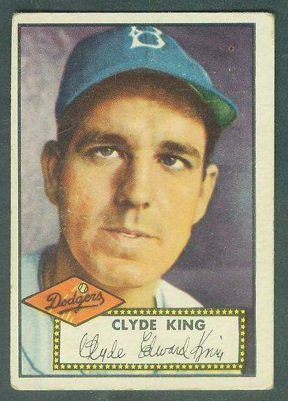 1952 Topps #205 Clyde King [#a] (Brooklyn Dodgers) Baseball cards value