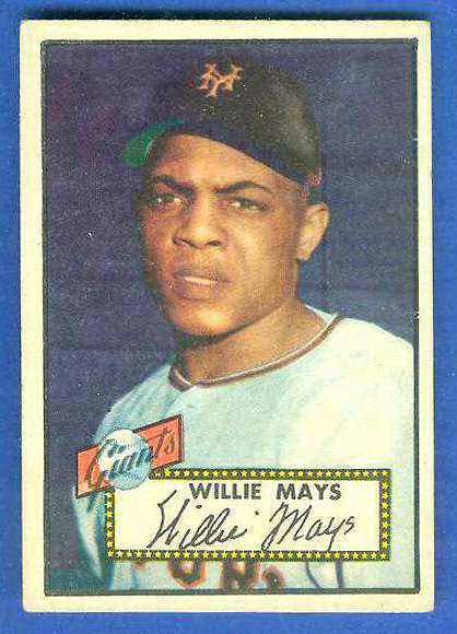 1952 Topps 261 Willie Mays Ny Giants