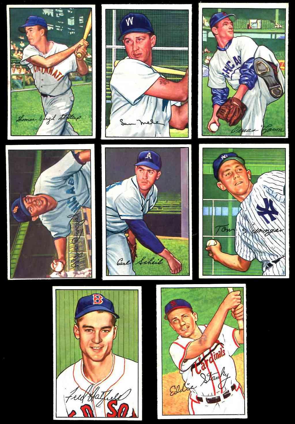1952 Bowman 160 Eddie Stanky Cardinals