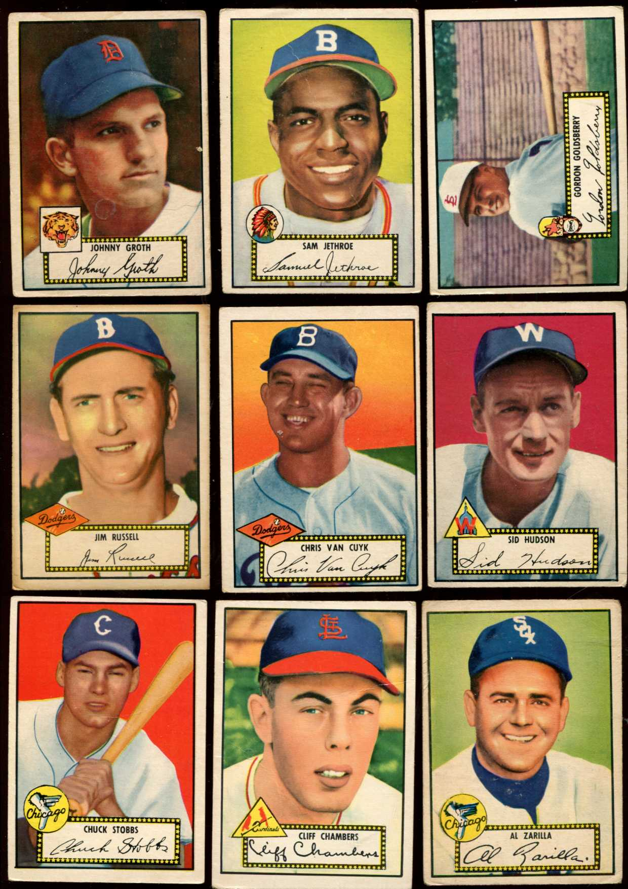 1952 Topps #.51 Jim Russell [#x] (Brooklyn Dodgers) Baseball cards value