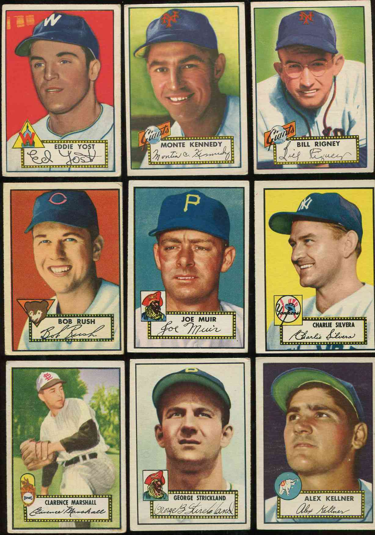 1952 Topps #168 Charlie Silvera ROOKIE [#x] (Yankees) Baseball cards value