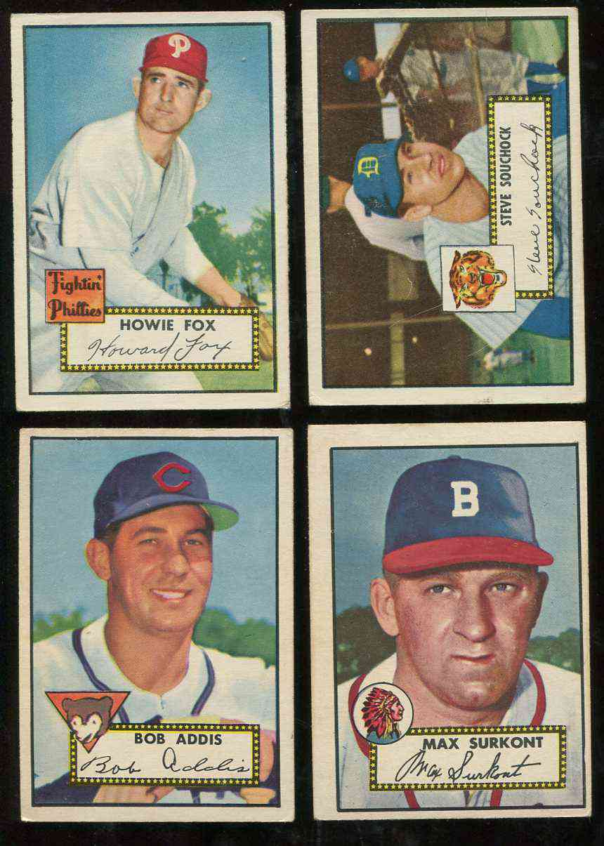 1952 Topps #259 Bob Addis [#x] (Cubs) Baseball cards value