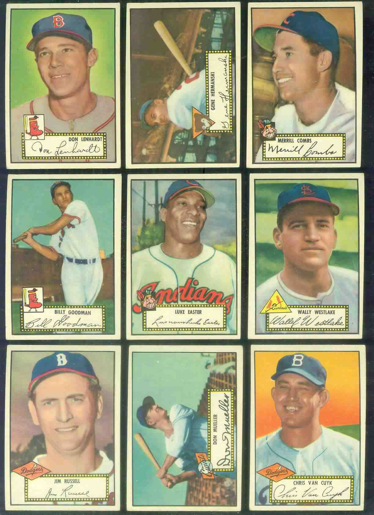 1952 Topps #..4 Don Lenhardt BLACK-BACK (Boston Braves) Baseball cards value