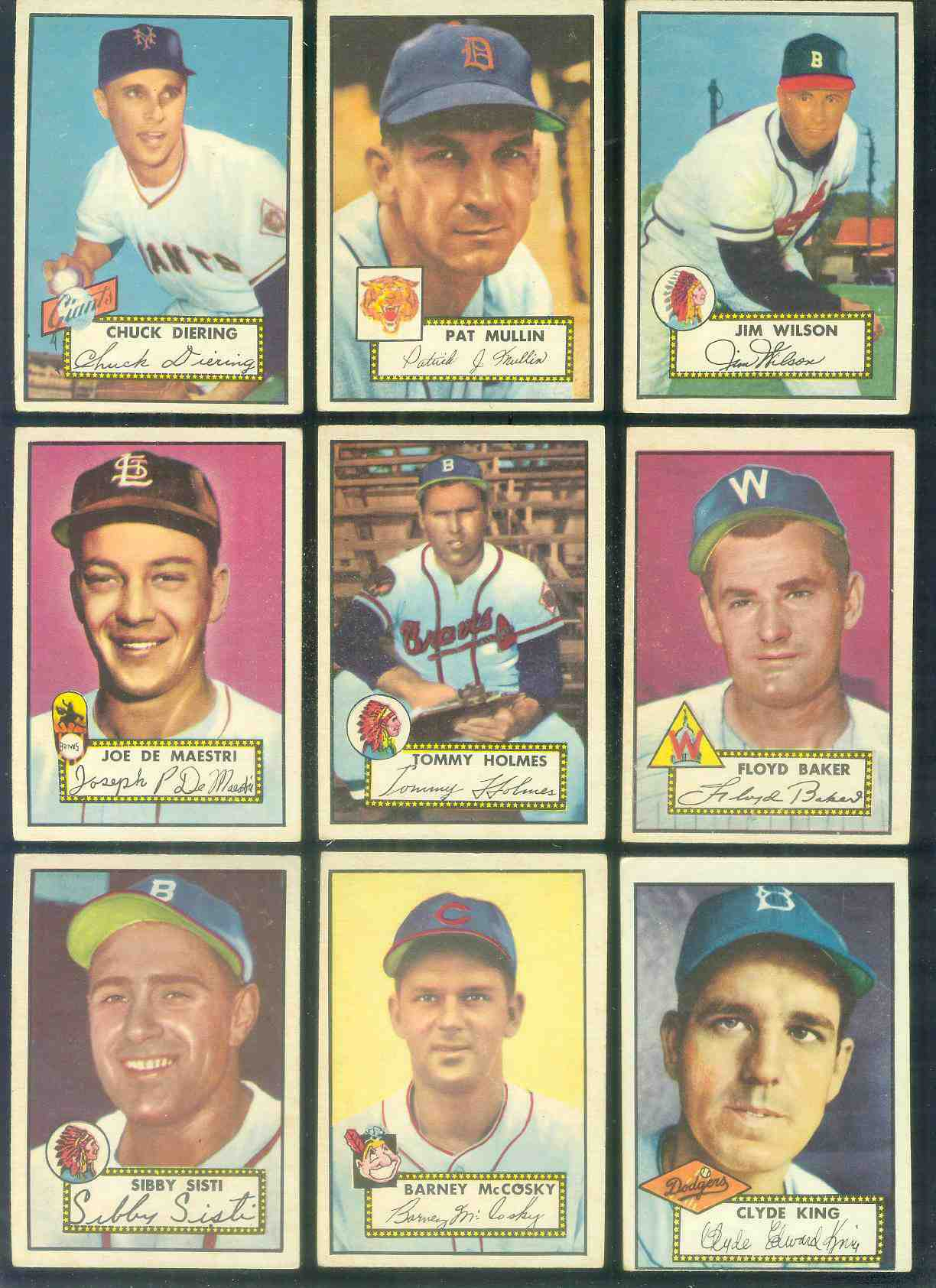 1952 Topps #292 Floyd Baker SHORT PRINT (Senators) Baseball cards value