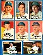1952 Topps  - YANKEES - Starter Team Set/Lot (8 different)
