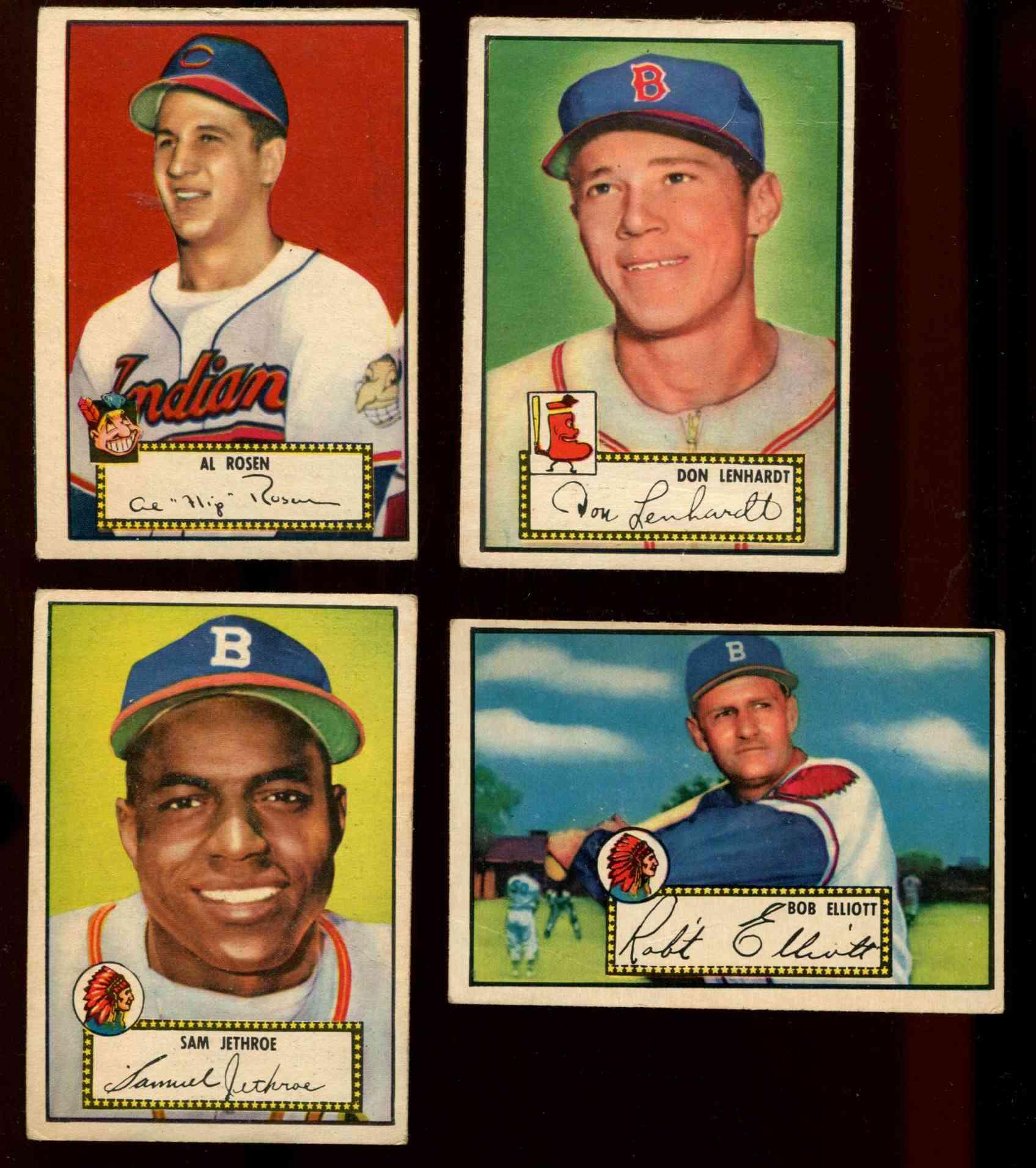 1952 Topps 27 Sam Jethroe Boston Braves Baseball Cards Value