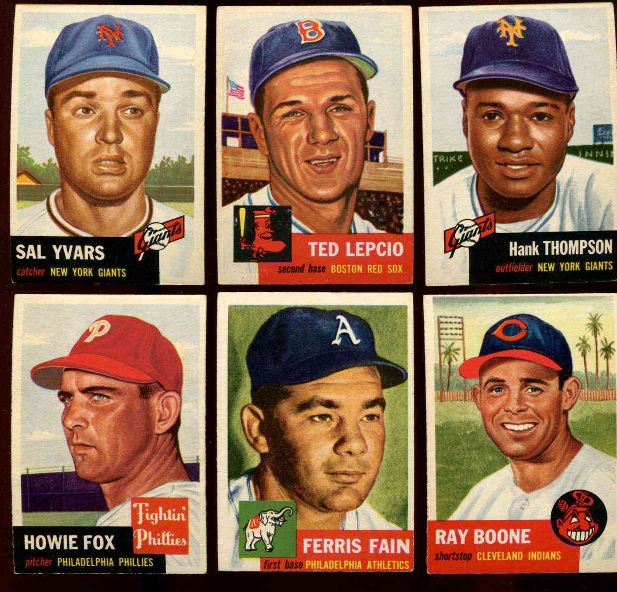1953 Topps #.24 Ferris Fain [#x] (Philadelphia A's) Baseball cards value
