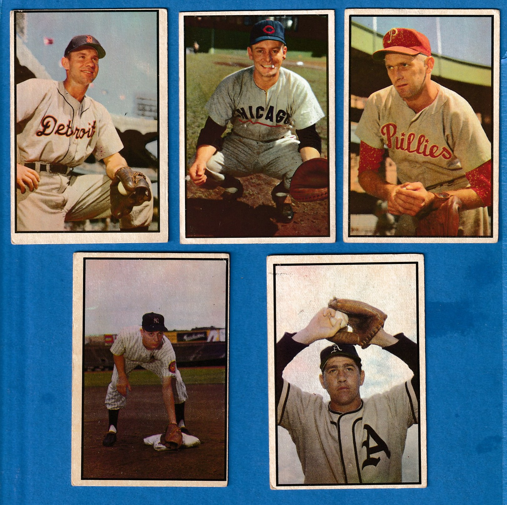 1953 Bowman Color #150 Carl Scheib [#r] (Philadelphia A's) Baseball cards value