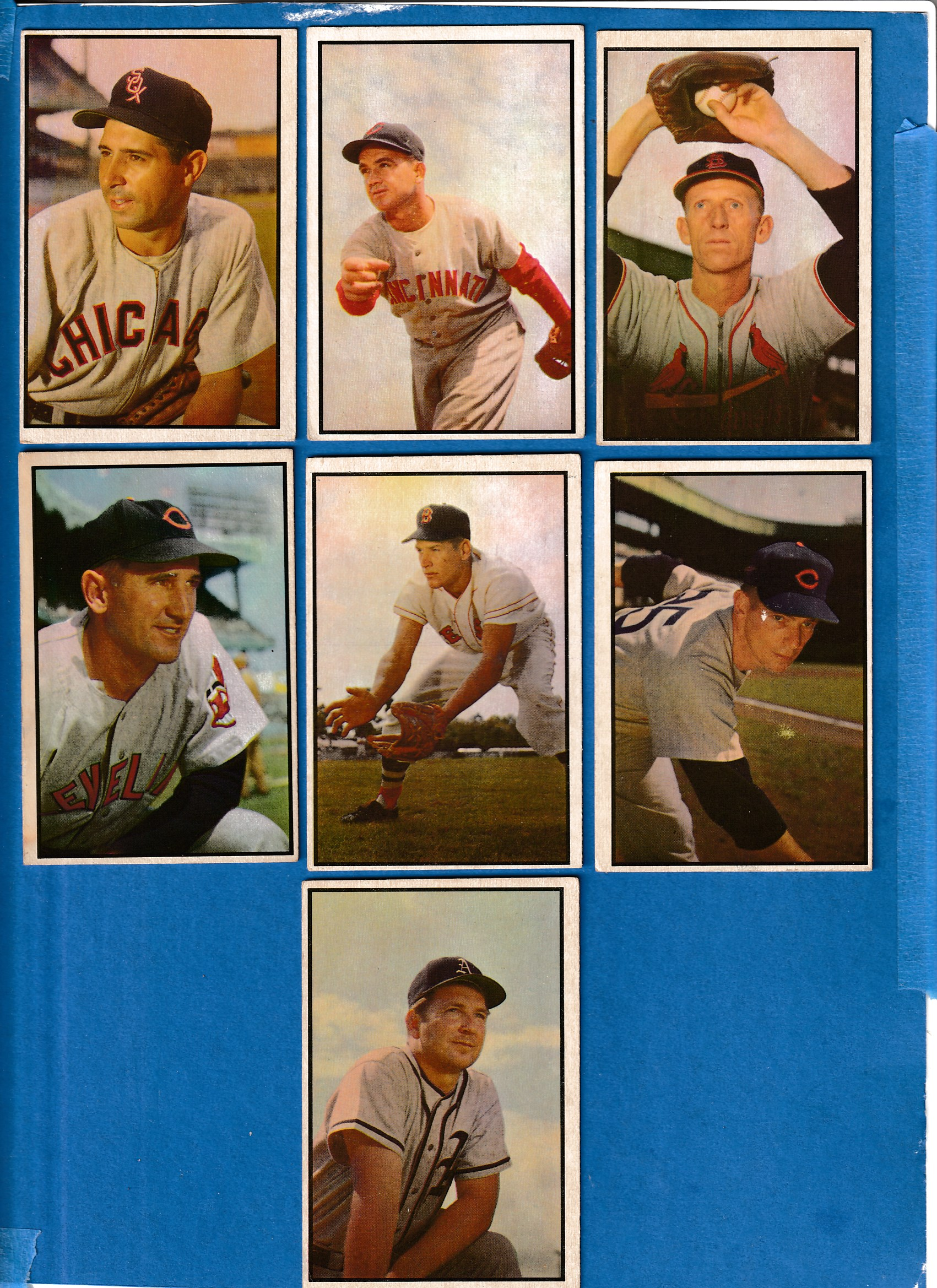 1953 Bowman Color #140 Al Brazle [#r] (Cardinals) Baseball cards value