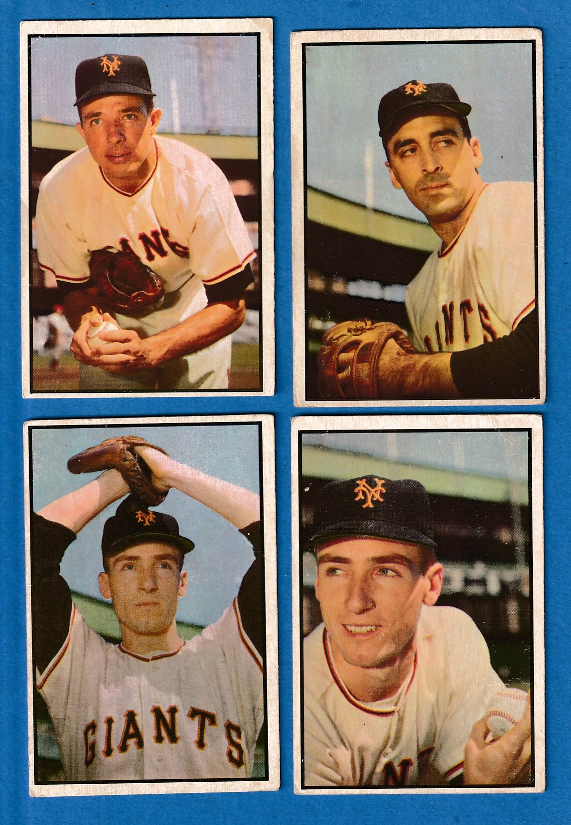 1953 Bowman Color  - GIANTS - Lot of (5) different with Leo Durocher Baseball cards value