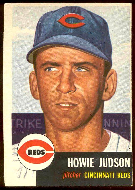 1953 Topps # 12 Howie Judson (Reds) Baseball cards value
