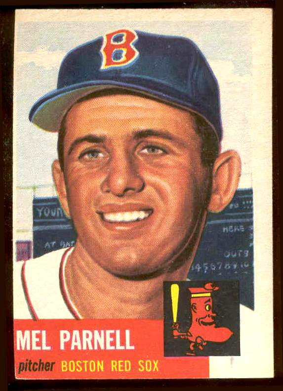 1953 Topps # 19 Mel Parnell (Red Sox) Baseball cards value