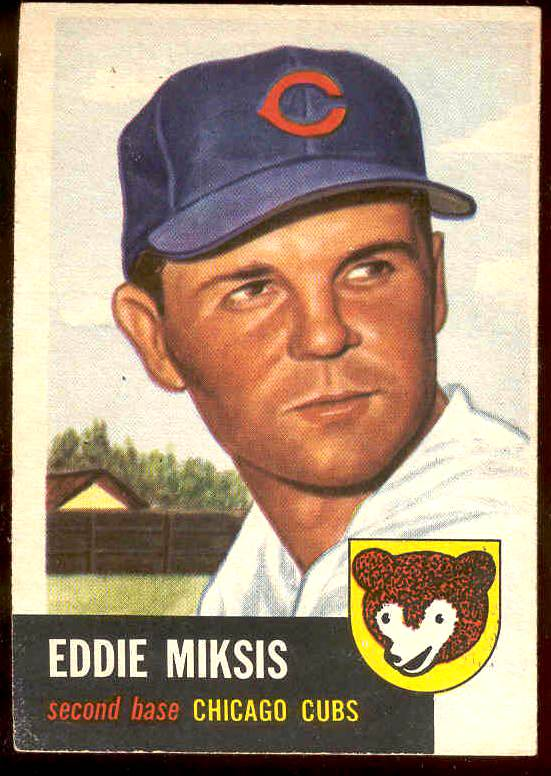 1953 Topps # 39 Eddie Miksis (Cubs) Baseball cards value