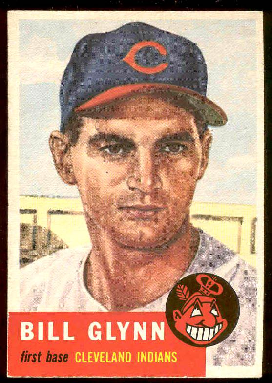1953 Topps #171 Bill Glynn (Indians) Baseball cards value