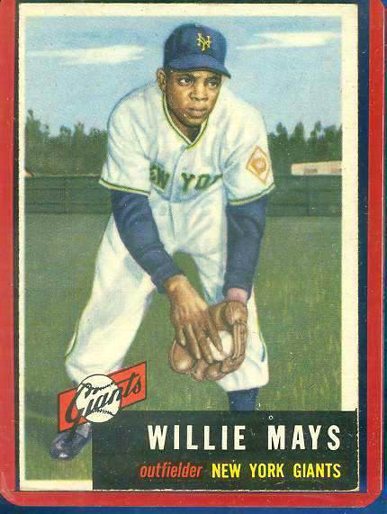 1953 Topps #244 Willie Mays SCARCE HIGH # [#b] (NY Giants) Baseball cards value