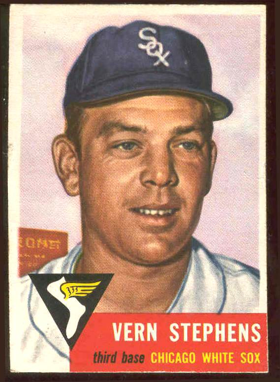 1953 Topps #270 Vern Stephens SCARCE HIGH # (White Sox) Baseball cards value