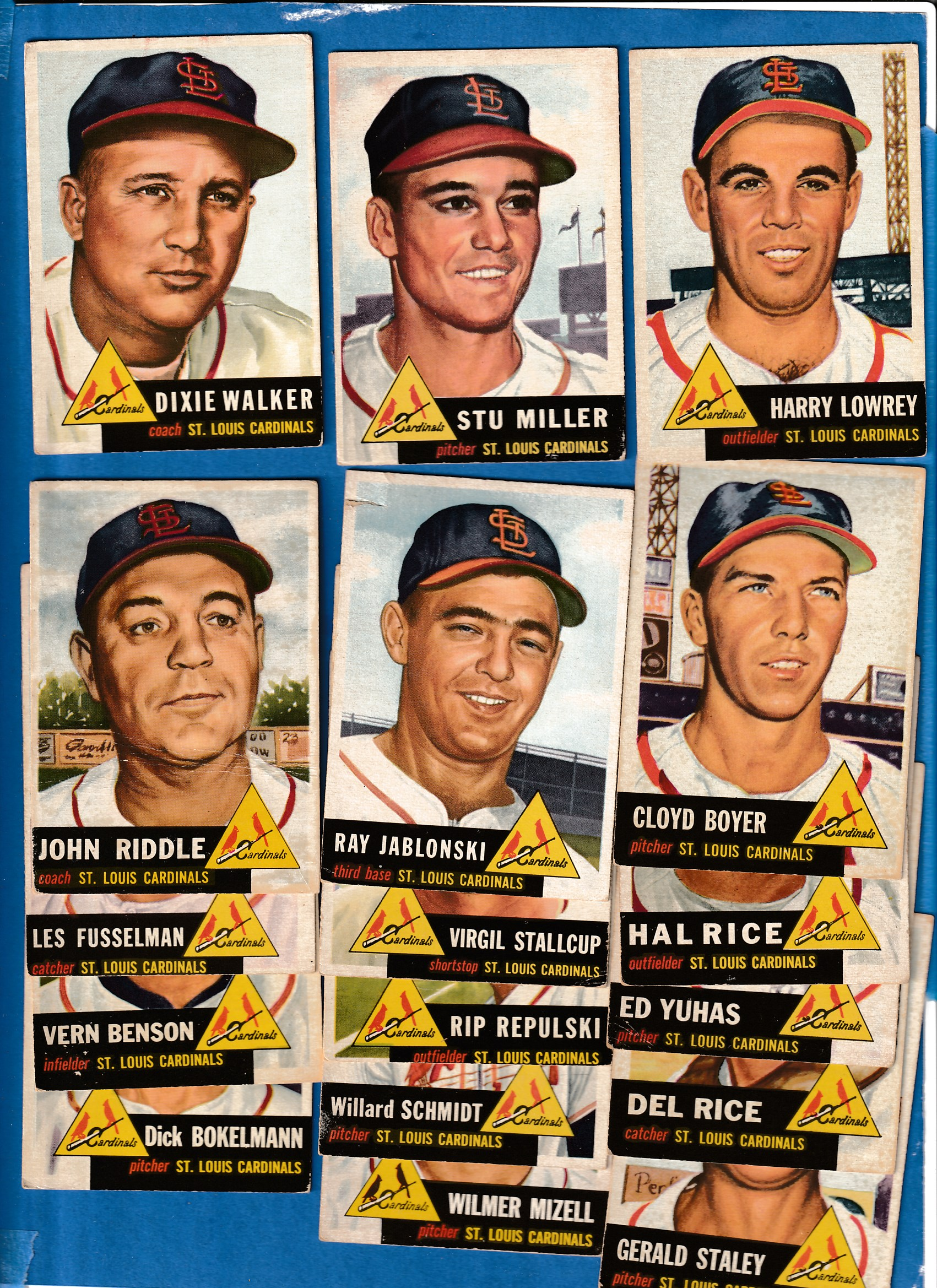 1953 Topps  - CARDINALS - Starter Team Set/Lot (18/23) Baseball cards value