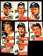 1953 Topps  - WASHINGTON NATIONALS - Starter Team Set/Lot (9 diff.)