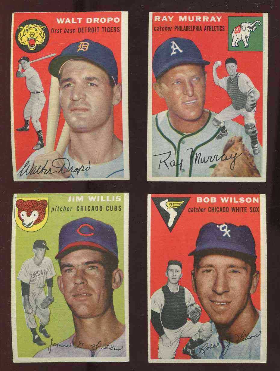 1954 Topps #.58 Bob Wilson SCARCE MID SERIES [#x] (White Sox) Baseball cards value